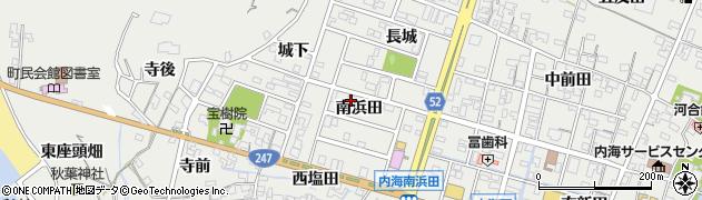 愛知県南知多町(知多郡)内海(南浜田)周辺の地図