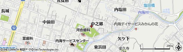 愛知県南知多町(知多郡)内海(中之郷)周辺の地図