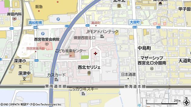 〒663-8202 兵庫県西宮市高畑町の地図