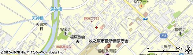 静岡県牧之原市静波静波2丁目周辺の地図