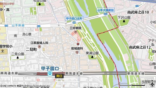 〒663-8112 兵庫県西宮市甲子園口北町の地図