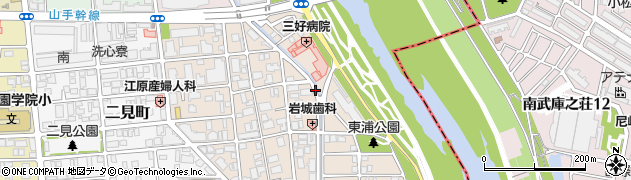 兵庫県西宮市甲子園口北町周辺の地図