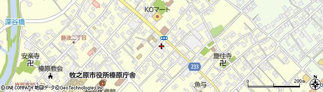 静岡県牧之原市静波周辺の地図