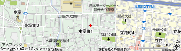 兵庫県尼崎市水堂町1丁目周辺の地図