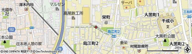 大阪府豊中市島江町周辺の地図