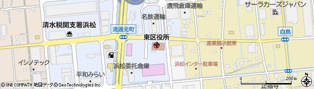 静岡県浜松市東区周辺の地図