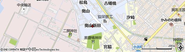 愛知県豊橋市牟呂町(奥山新田)周辺の地図