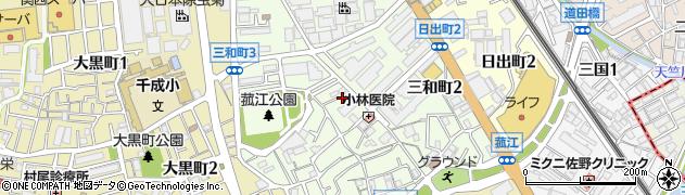 大阪府豊中市三和町周辺の地図