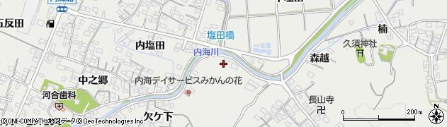 愛知県南知多町(知多郡)内海(東塩田)周辺の地図