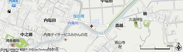 愛知県南知多町(知多郡)内海(中塩田)周辺の地図