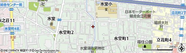 兵庫県尼崎市水堂町周辺の地図