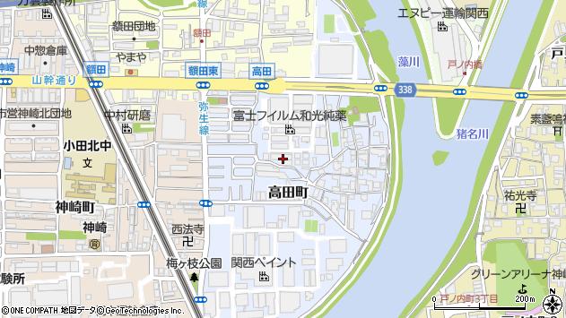 〒661-0963 兵庫県尼崎市高田町の地図