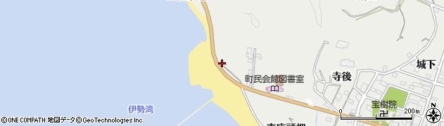 愛知県南知多町(知多郡)内海(西座頭畑)周辺の地図