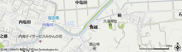 愛知県南知多町(知多郡)内海(森越)周辺の地図