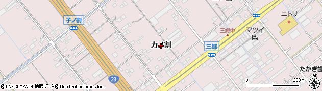 愛知県豊橋市神野新田町(カノ割)周辺の地図