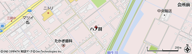 愛知県豊橋市神野新田町(ハノ割)周辺の地図