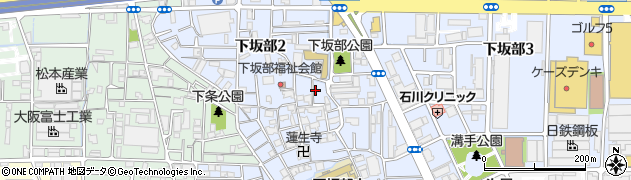 兵庫県尼崎市下坂部2丁目周辺の地図