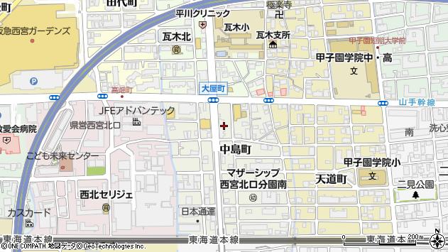 〒663-8105 兵庫県西宮市中島町の地図