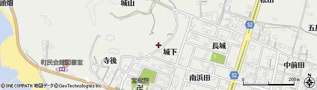 愛知県南知多町(知多郡)内海(城山)周辺の地図