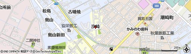 愛知県豊橋市王ヶ崎町(汐崎)周辺の地図