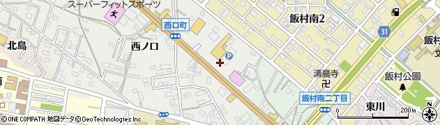 愛知県豊橋市西口町(土橋)周辺の地図