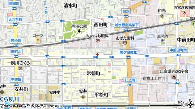 〒662-0042 兵庫県西宮市分銅町の地図