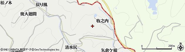 愛知県南知多町(知多郡)内海(牧之内)周辺の地図