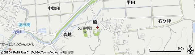 愛知県南知多町(知多郡)内海(楠)周辺の地図