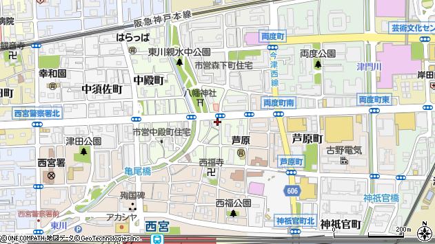 〒662-0845 兵庫県西宮市神明町の地図