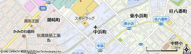 愛知県豊橋市中浜町周辺の地図