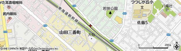 愛知県豊橋市山田町(竜ケ池)周辺の地図