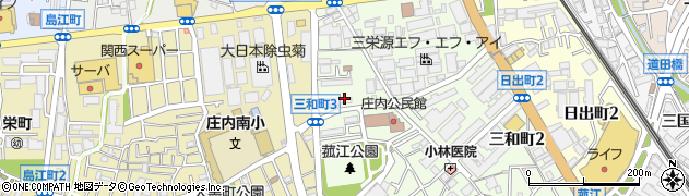 府営庄内住宅周辺の地図