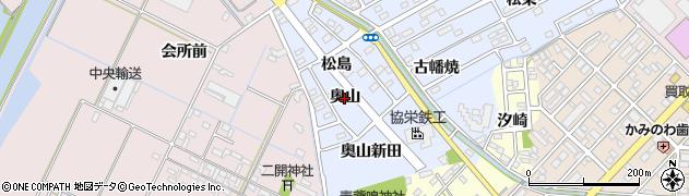 愛知県豊橋市牟呂町(奥山)周辺の地図