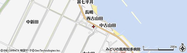 愛知県南知多町(知多郡)豊丘(古山田)周辺の地図
