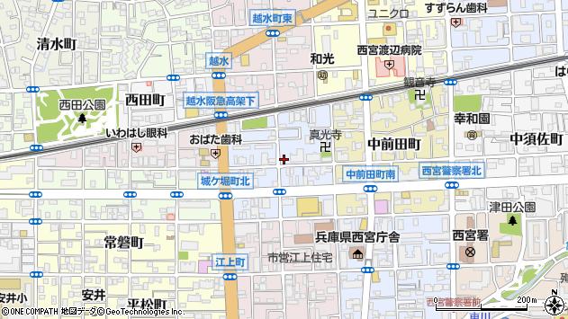 〒662-0856 兵庫県西宮市城ケ堀町の地図