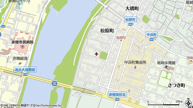 〒678-0228 兵庫県赤穂市松原町の地図
