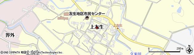 三重県伊賀市上友生周辺の地図