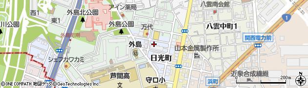 大阪府守口市日光町周辺の地図