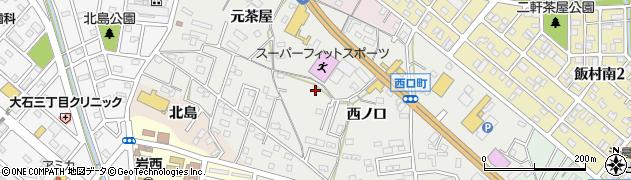 愛知県豊橋市西口町周辺の地図