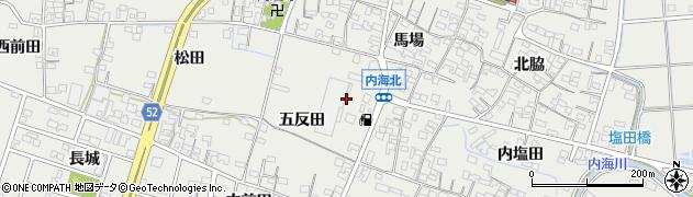 愛知県南知多町(知多郡)内海(五反田)周辺の地図