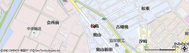 愛知県豊橋市牟呂町(松島)周辺の地図