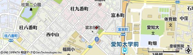 愛知県豊橋市富本町(東山)周辺の地図
