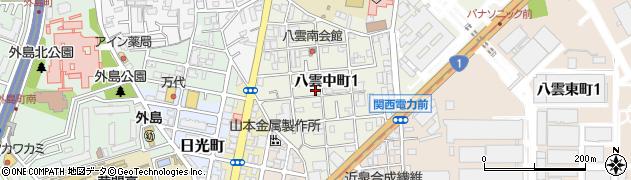 大阪府守口市八雲中町周辺の地図