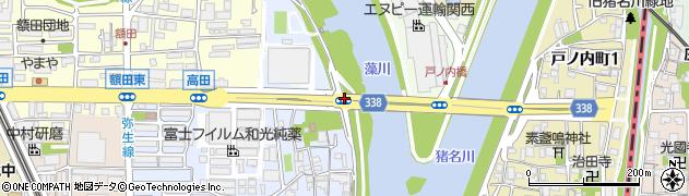 藻川橋西詰周辺の地図
