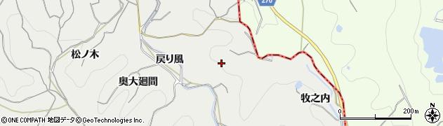 愛知県南知多町(知多郡)内海(戻り風)周辺の地図