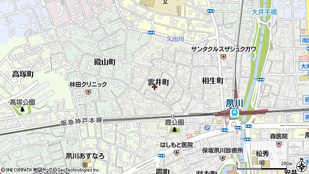 〒662-0064 兵庫県西宮市雲井町の地図