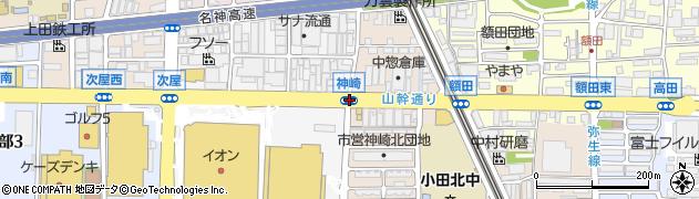 神崎周辺の地図
