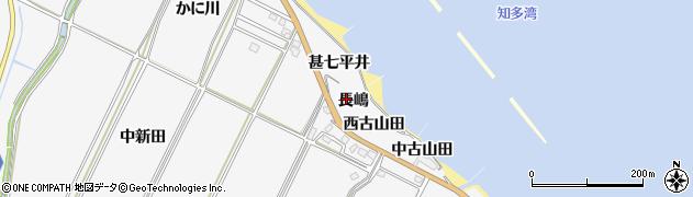 愛知県南知多町(知多郡)豊丘(長嶋)周辺の地図