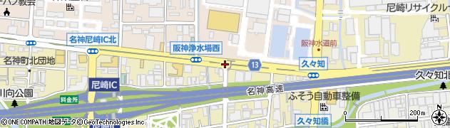 阪神浄水場南周辺の地図
