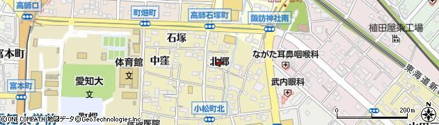 愛知県豊橋市小松町(北郷)周辺の地図